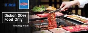 Diskon 20% di Koba BBQ dengan Kartu Kredit BCA