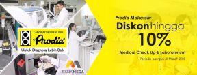 Diskon 10% Medical Check Up & Laboratorium di Klinik Prodia dengan Kartu Kredit Mega