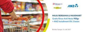 Gratis Rinso Anti Noda & ANZ Installment 0% dengan Kartu Kredit ANZ