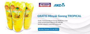 Gratis Minyak Goreng Tropical di Indogrosir untuk Pengguna Kartu Kredit ANZ