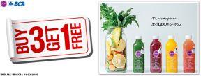 Buy 3 Get 1 Free Transaksi dengan Kartu Kredit BCA di Re.juve