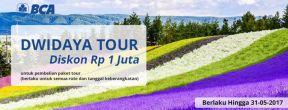 Diskon hingga Rp 1 juta di outlet Dwidaya Tour dengan Kartu Kredit BCA