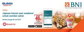 Diskon 40% di Breadlife setiap transaksi menggunakan UnikQu dengan Kartu Kredit BNI