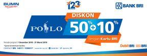 Nikmati Diskon 50% + 10% dengan tiap Transaksi Kartu Kredit BRI