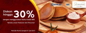 Diskon hingga 30% di Shokupan dengan kartu kredit BRI