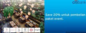 Hemat 20% untuk pembelian paket event dengan Kartu Kredit Citi