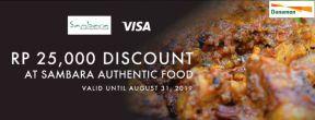 Diskon 25Ribu di Sambara Authentic Food dengan Kartu Kredit Danamon