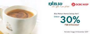Diskon 30% di Excelso setiap transaksi dengan Kartu Kredit OCBC