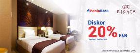 Dapatkan Diskon 20% F&B di Regata Hotel dengan Kartu Kredit Panin
