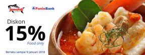 Dapatkan Diskon 15% Food Only dengan Kartu Kredit Panin Bank