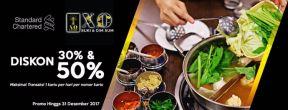 Promo Diskon 30% dan 50% di X.O Suki dengan Kartu Kredit Standard Chartered
