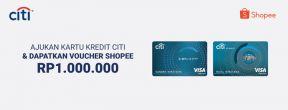 Apply Citibank Kartu Kredit dan Dapatkan Voucher Shopee Rp 1.000.000