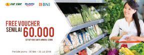 Gratis Voucher Rp 60.000 di Tip Top dengan Kartu Kredit BNI