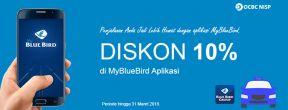 Diskon 10% di MyBlueBird Aplikasi dengan Kartu Kredit OCBC NISP