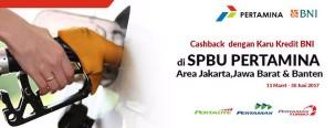 Weekend Cashback dengan Kartu Kredit BNI di SPBU Pertamina