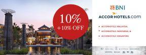 Diskon 10% + Ekstra Diskon 10% AccorHotels Malaysia, Indonesia, dan Singapura dengan BNI Kartu Kredit