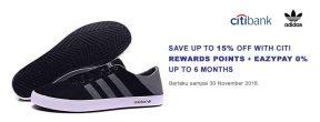 Diskon Adidas Neo Hingga 15% dengan Citi Rewards Points + Eazypay 0% hingga 6 bulan
