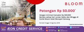 Potongan Rp 50.000 di Bloom Hotel Monopoli Kemang