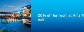 Promo 20% off for room at Alila Resort Bali dengan Citi Credit Card