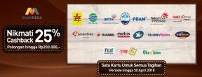 Megabill Cashback 25% + Diskon 200.000 dengan Kartu Kredit Mega