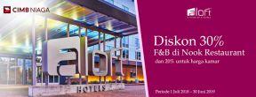 Diskon 30% F&B di Nook Restaurant dengan Kartu Kredit CIMB Niaga