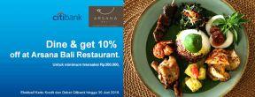 Diskon 10% di Arsana Bali Restaurant dengan Kartu Kredit Citi