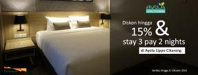 Diskon hingga 15% & stay 3 pay 2 nights di Ayola Lippo Cikarang