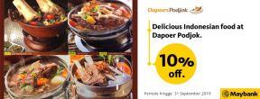 Diskon 10% dengan Maybank Kartu Kredit JCB di Dapoer Podjok