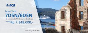 Paket Tour 7D5N/6D5N Tasmania & Melbourne mulai Rp 7.348.000 dengan Kartu Kredit BCA