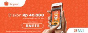 Diskon Rp40ribu untuk Belanja di Shopee dengan Kartu Kredit BNI