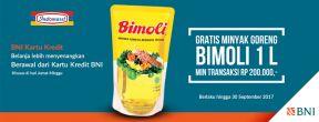 Gratis Minyak Goreng Bimoli 1L di Indomaret dengan Kartu Kredit BNI