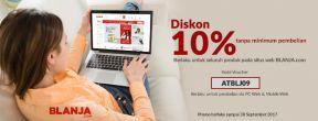 Diskon 10% di Blanja.com Tanpa Minimum Pembelian