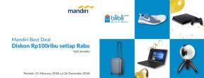 Diskon Rp100ribu setiap Rabu di Blibli dengan Kartu Kredit Mandiri