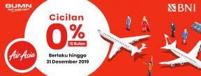 Cicilan 0% Tenor 12 Bulan di Air Asia dengan Kartu Kredit BNI