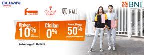 Diskon 10% Hammer, Nail dan Coconut Island dengan Kartu Kredit BNI