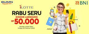 Diskon Rp 50.000,- di iLOTTE.com dengan Kartu Kredit BNI
