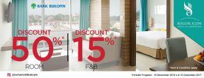 Diskon 50% di Bogor Icon Hotel dengan Kartu Kredit BNI