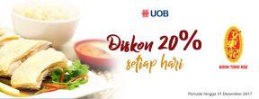 Diskon 20% di Boon Tong Kee dengan Kartu Kredit UOB