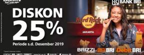 Diskon 25% di Hard Rock Cafe Jakarta dengan Kartu Kredit BRI