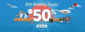 BRI Weekly Deals di Traveloka! Banyak Diskon Seru Menanti Anda!
