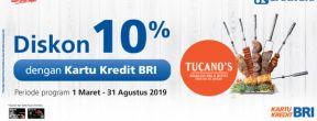 Diskon 10% di Resto Tucano's dengan Kartu Kredit BRI