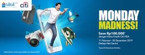 Blibli CITIMONDAY Hemat Rp 100.000 dengan Kartu Kredit Citibank