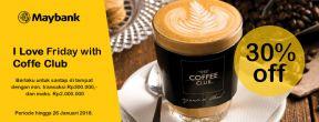 Diskon 30% dengan Maybank Kartu Kredit di Coffee Club