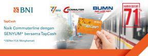 Cukup Bayar 71% untuk Bayar Commuterline Tiap Senin dengan TapCash BNI