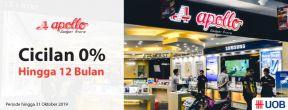 Cicilan 0% Hingga 12 Bulan di Apollo Gadget Store dengan Kartu Kredit UOB
