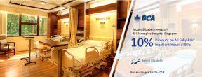 10% Discount di Mount Elizabeth Hospital & Gleneagles Hospital Singapore dengan Kartu Kredit BCA