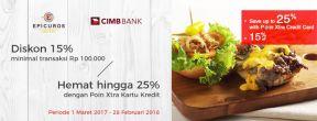 Diskon 25% di Epicuros dengan Kartu Kredit CIMB Niaga