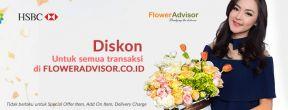 Diskon 15% Off di Flower Advisor dengan Kartu Kredit HSBC