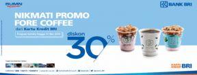 Diskon 30% di Fore Coffee dengan Kartu Kredit BRI