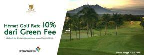 Hemat 10% dari Green Fee di Sentul Highlands dengan Kartu Kredit Permata